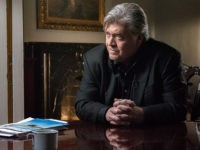 Steve Bannon, executive chairman of Breitbart News, speaks with CBS News' Charlie Rose for a 60 Minutes interview in the