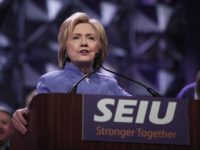 Hillary Clinton SEIU (Bill Pugliano / Getty)
