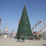 Iraqis Erect a 30-Foot Christmas Tree in Baghdad to Celebrate the Defeat of ISIS