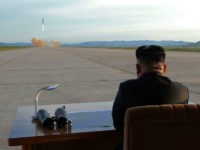 TOPSHOT - This undated picture released from North Korea's official Korean Central News Agency (KCNA) on September 16, 2017 shows North Korean leader Kim Jong-Un inspecting a launching drill of the medium-and-long range strategic ballistic rocket Hwasong-12 at an undisclosed location. Kim vowed to complete North Korea's nuclear force despite sanctions, saying the final goal of his country's weapons development is 'equilibrium of real force' with the United States, state media reported on September 16. / AFP PHOTO / KCNA VIA KNS / STR / South Korea OUT / REPUBLIC OF KOREA OUT ---EDITORS NOTE--- RESTRICTED TO EDITORIAL USE - MANDATORY CREDIT 'AFP PHOTO/KCNA VIA KNS' - NO MARKETING NO ADVERTISING CAMPAIGNS - DISTRIBUTED AS A SERVICE TO CLIENTS THIS PICTURE WAS MADE AVAILABLE BY A THIRD PARTY. AFP CAN NOT INDEPENDENTLY VERIFY THE AUTHENTICITY, LOCATION, DATE AND CONTENT OF THIS IMAGE. THIS PHOTO IS DISTRIBUTED EXACTLY AS RECEIVED BY AFP. / (Photo credit should read STR/AFP/Getty Images)