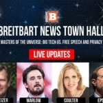 ***Live Updates*** Breitbart News Town Hall: 'Masters of the Universe': Big Tech vs. Free Speech and Privacy